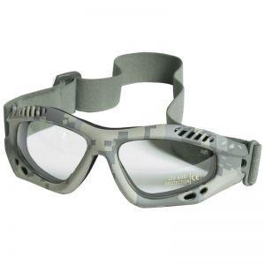 Gogle Ochronne Mil-Tec Commando Air Pro - Clear - ACU Digital