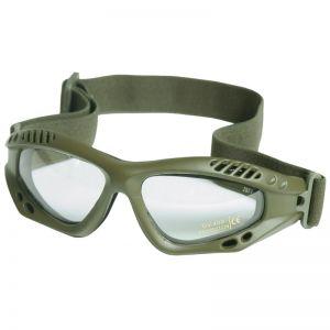 Gogle Ochronne Mil-Tec Commando Air Pro - Clear - Oliwkowe