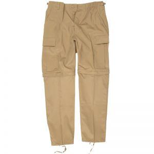 Spodnie 2w1 Mil-Tec Zip-Off Combat Khaki