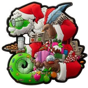 Naszywka na Rzep Patchlab Chameleon Christmas Czerwono-Zielona