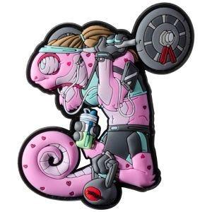 Naszywka na Rzep Patchlab Chameleon Fit Girl Różowa