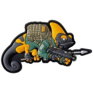 Naszywka na Rzep Patchlab Chameleon Patrol Line Patch Żółto-Zielona