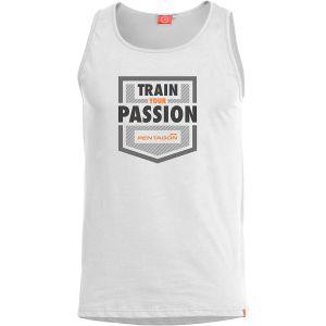 Koszulka bez rękawów Pentagon Astir Train Your Passion Biała