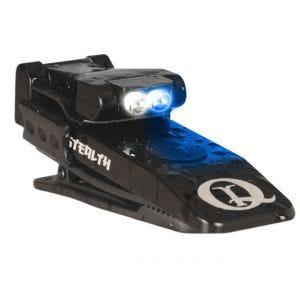 Mini Latarka z Klipsem Mocującym QuiqLite Stealth Biały / Niebieski LED