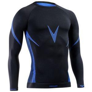 Koszulka Termoaktywna Tervel Optiline Długi Rękaw Czarno-Niebieska