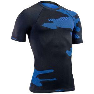 Koszulka Termoaktywna Tervel Optiline Light Krótki Rękaw Czarno-Niebieska