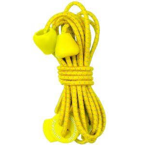 Sznurówki do Butów Ultimate Performance Elastyczne Odblaskowe Żółte