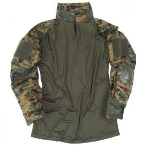Bluza Mil-Tec Warrior z Nałokietnikami Digital Woodland