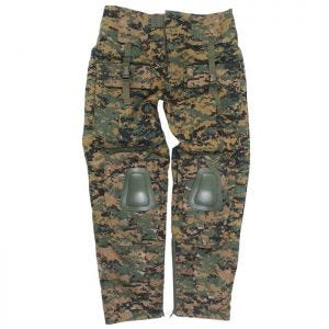 Spodnie Mil-Tec Warrior z Nakolannikami Digital Woodland