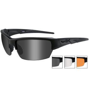 Okulary Taktyczne Wiley X WX Saint - Zestaw 3 Wymiennych Wizjerów - Czarne