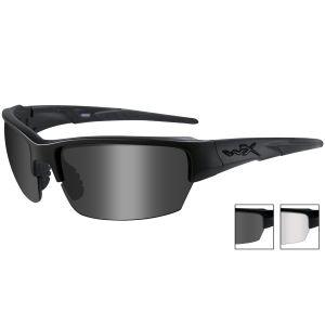 Okulary Taktyczne Wiley X WX Saint - Smoke + Clear - Czarne