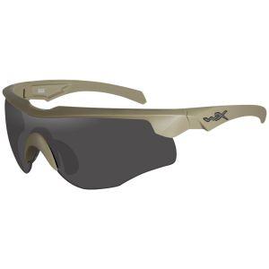 Okulary Taktyczne Wiley X WX Rogue COMM - Zestaw 3 Wymiennych Wizjerów - Tan