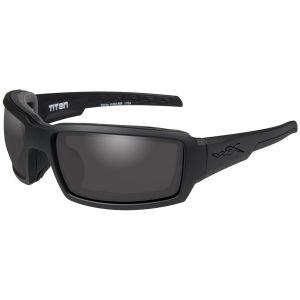 Okulary Taktyczne Wiley X WX Titan - Smoke Grey - Czarne