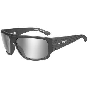 Okulary Taktyczne Wiley X WX Vallus - Grey Silver Flash - Czarne