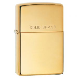 Zapalniczka Zippo High Polish Brass Engraved