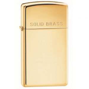 Zapalniczka Zippo Slim High Polish Brass Engraved